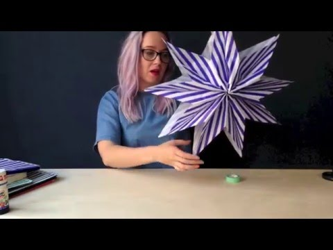 MAKE A PAPER BAG STAR in under 5 minutes  - KICKASS CRAFT from Ladyland