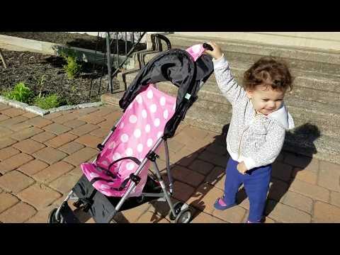 Cosco Disney Minnie Mouse 3D Umbrella Stroller - Pink/ Black