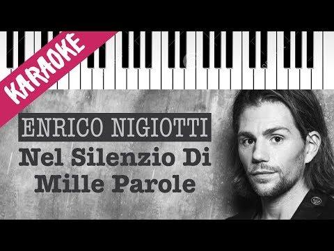 Enrico Nigiotti | Nel Silenzio Di Mille Parole // Piano Karaoke con Testo