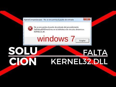 Solucionar Error Kernel32.dll Windows 7 Punto De Entrada No Encontrada 2019