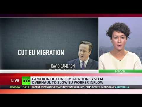 'Control': Cameron outlines plans to cut EU migration to UK