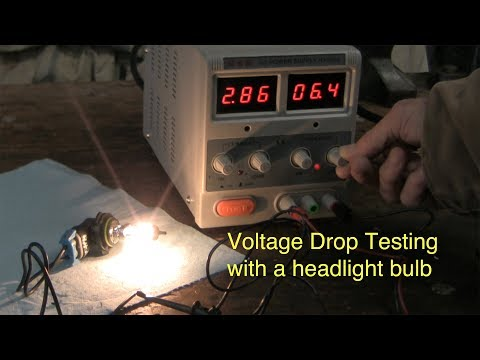 When and why to use a light bulb for automotive voltage drop testing