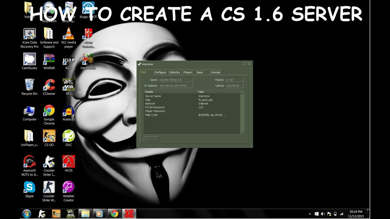 Dedicated server cs 1.6 u u