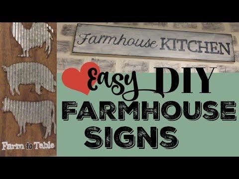 Easy Diy Farmhouse Signs Youtube