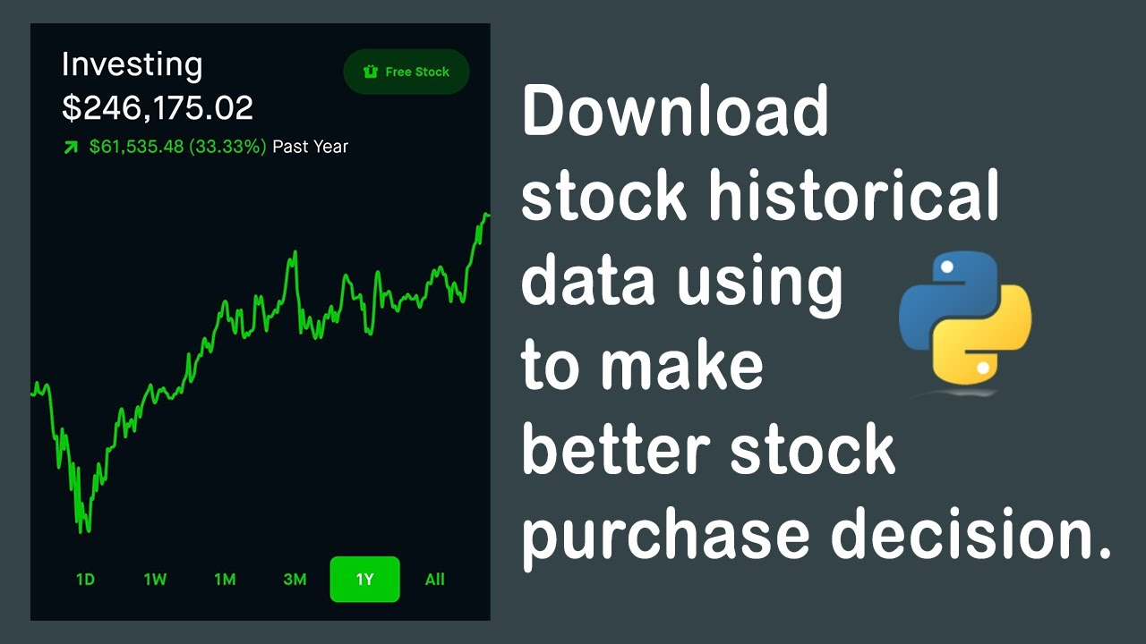 Download historical stock data from Yahoo Finance using Python