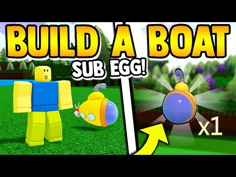 SUBMARINE EGG SECRET!! (tutorial) | Build a boat for Treasur
