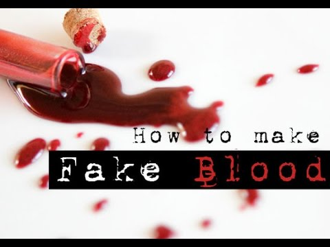 Perfect Fake Blood Recipe Without Corn Syrup Edible You
