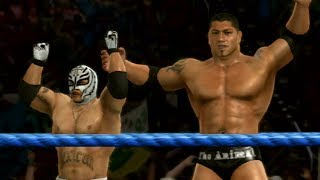 WWE SmackDown vs Raw 2009 - Road To Wrestlemania Ep 1 - MYSTERIO AND BATISTA!!