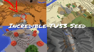 Minecraft Xbox / PlayStation TU53 Seed - Mushroom Biome, Village, Jungle, Mesa & Double Ravine