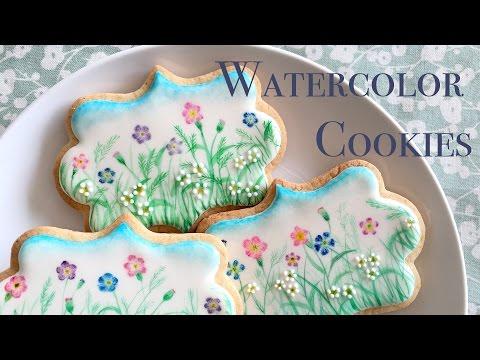 Watercolor Wildflower Cookies!