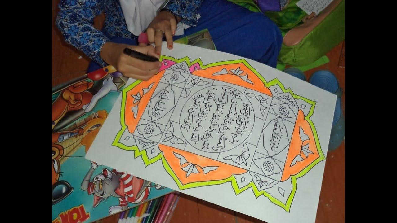 Porsadin Iv Tk Kab Bandung Kaligrafi Putra Putri Yonif Nagreg