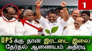 இரட்டை இலையை கைப்பற்றினார் பன்னீர்செல்வம்  |Latest Tamil Political Politics Cinema Recent News Today thumbnail