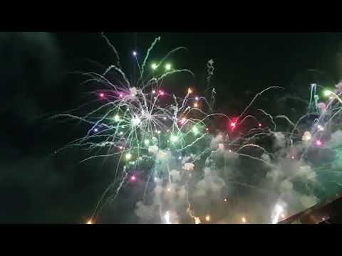 when fashion meets technology, fashion look like Manila(philippines)magnificent 2018 fireworks