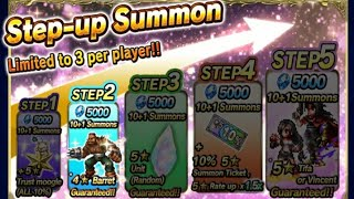 【FFBE】Final Fantasy VII - Tifa and Vincent Step up Summons