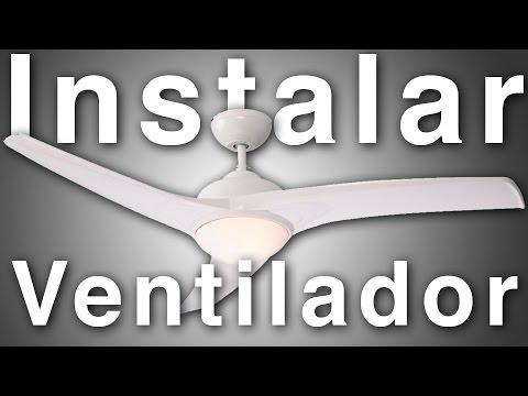 Como instalar ventilador de techo con luz Aruba Inspire