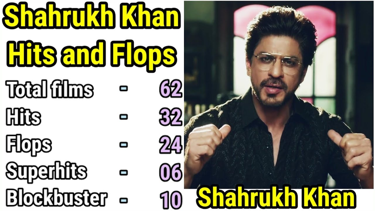 Download Shah Rukh Khan Filmography, Movies List, Box Office Collection with HIT or Flop Verdict Srk News