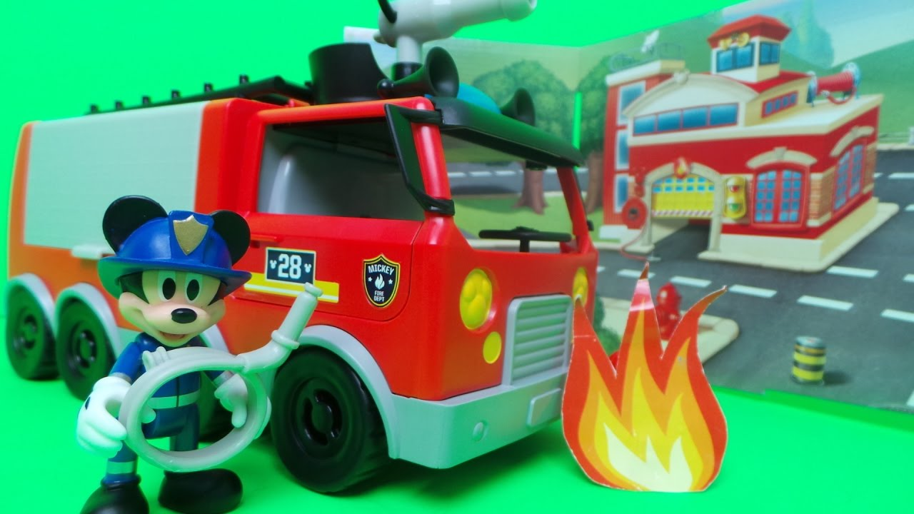 Mickey Mouse CLUBHOUSE Emergency Fire Truck  Disney Junior Game