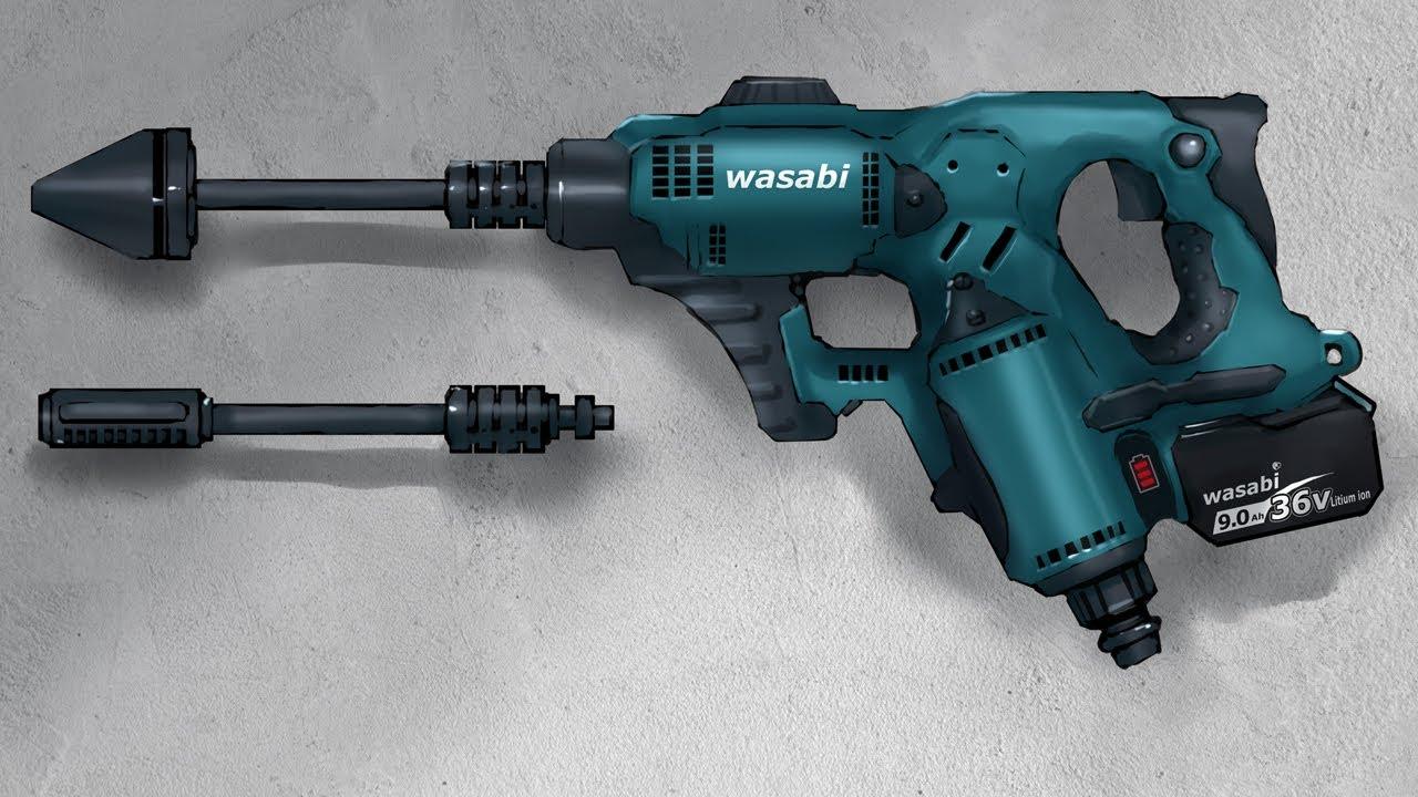 【36V】こんなポータブル高圧洗浄機がほしい【お絵描き】Designing a 36V Portable Pressure Washer
