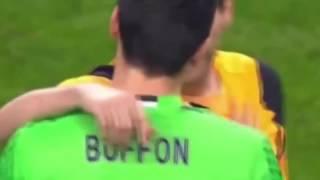 Буффон и Касильяс после матча ЛЧ Порту -Ювентус