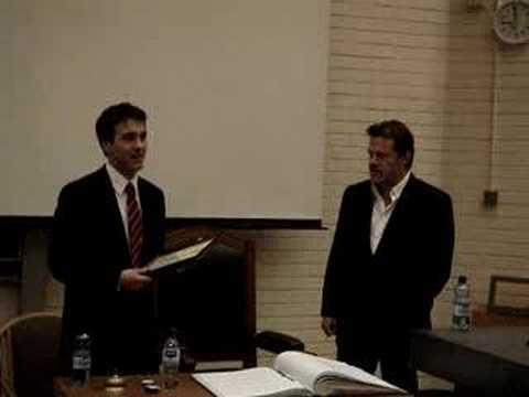 Eddie Izzard at UCD (Accepting the James Joyce Award)