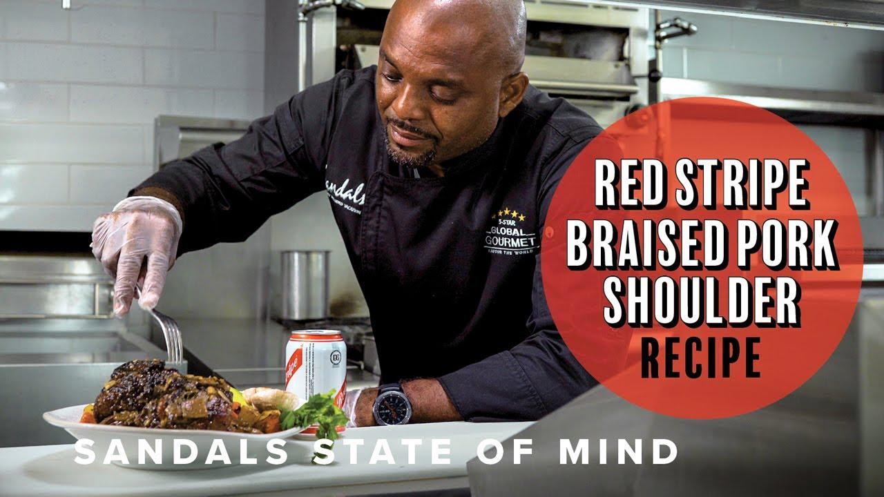 Red Stripe Braised Pork Shoulder: Sandals State of Mind