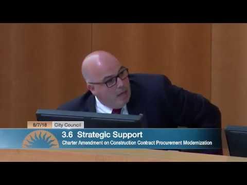 Charter Amendment on Construction Contract Procurement Modernization