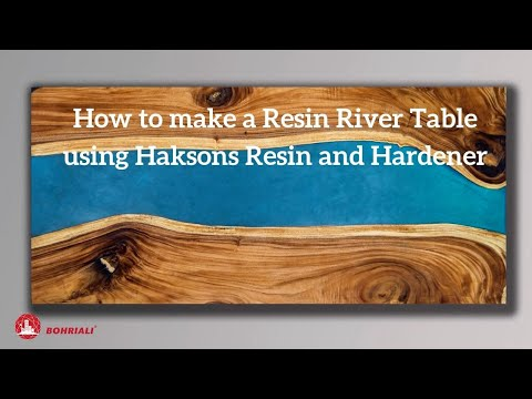 How to Make a River Table with Haksons Resin and Hardener!