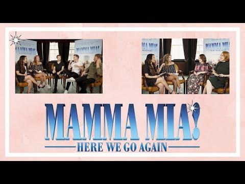 CAST MAMMA MIA 2 INTERVIEWEN!! | JULIA VAN BERGEN