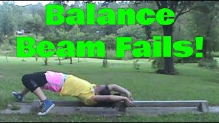 Balance Beam Fails | Lydia The Gymnast | Self Taught Gymnastics | Gymnastics 101