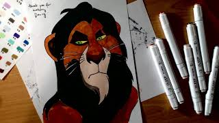 Scar, Lion King, [Make your own Colouring Book], Speed Drawing and Colouring