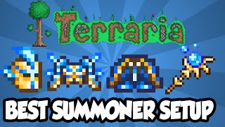 Terraria 1.3 - Best Summoner Armor + Weapon Setup - INSANE Summoner DPS Terraria 1.3