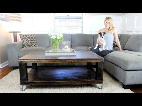the rustic coffee table easy diy project