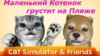 Котенок Том и Друзья - Миссия на Пляже! Красочный и весёлый симулятор животных, let's play.