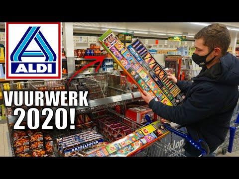 ALDI VERKOOPT WEER VUURWERK  SUPER VEEL VUURWERK SHOPPEN EN AFSTEKEN
