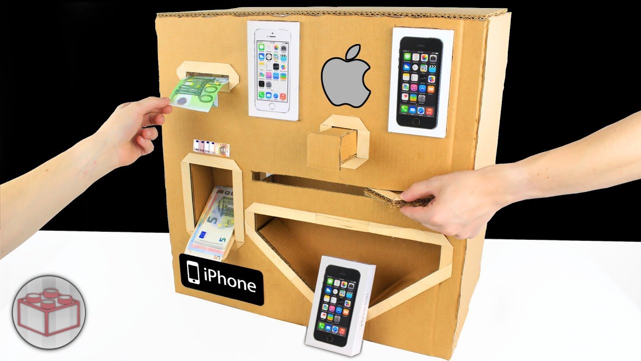 How To Make Apple iPhone Vending Machine From Cardboard
