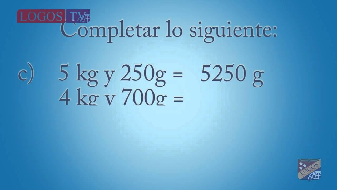 Cuantos gramos tiene 3/4 de un kilogramo