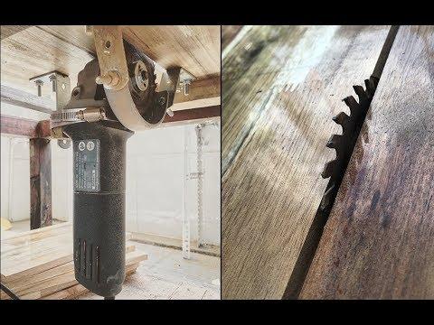 Tự chế bàn cắt gỗ cho máy mài cầm tay