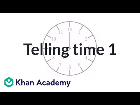 Telling Time Exercise Example 1 | Measurement And Data | Early Math | Khan Academy