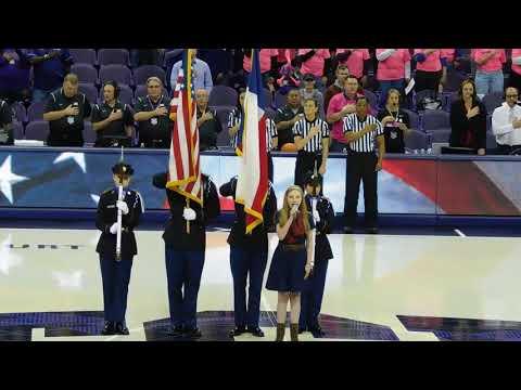 National Anthem TCU vs Kansas State Womens Basketball 2172018