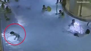 Boy begins to drown in swimming pool in Finland and nobody notices