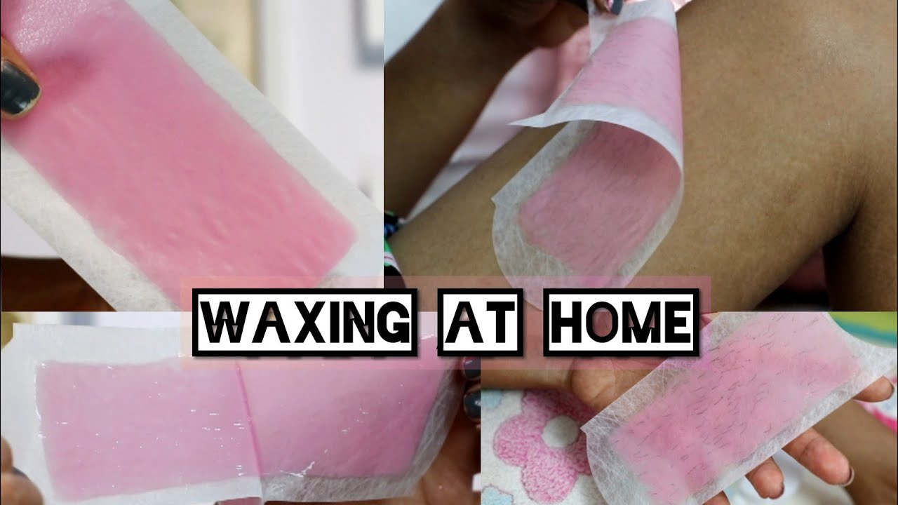 Hindi How To Use Veet Wax Strips Waxing At Home Hair Removal