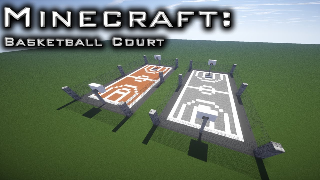 Minecraft: Basket Ball Court Tutorial - YouTube