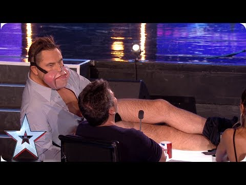 Ventriloquist Jimmy Tamley makes David Walliams STRIP! | Auditions | BGT 2019