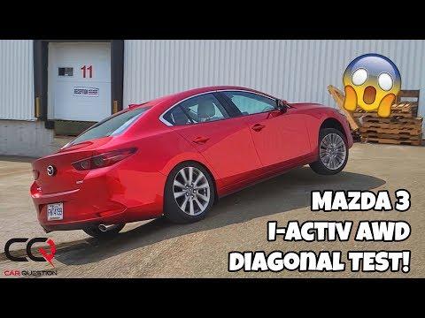 Mazda 3 i-ACTIV AWD diagonal test!   Surprise!