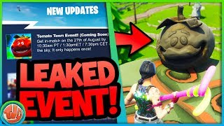 *LEAKED* NIEUW EVENT IN TOMATO TOWN!!! - Fortnite: Battle Royale