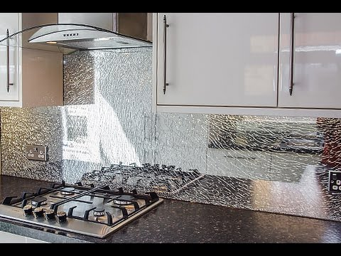 Large Icecracked Glass Splashback By Creoglass Design