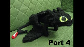 How To Crochet Toothless Part 4