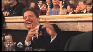 Brendan Fraser Golden Globes Spastic Clap (2010)