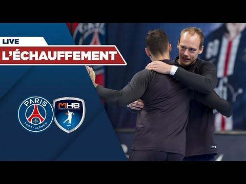 PSG Handball - Montpellier Handball : l'échauffement en live