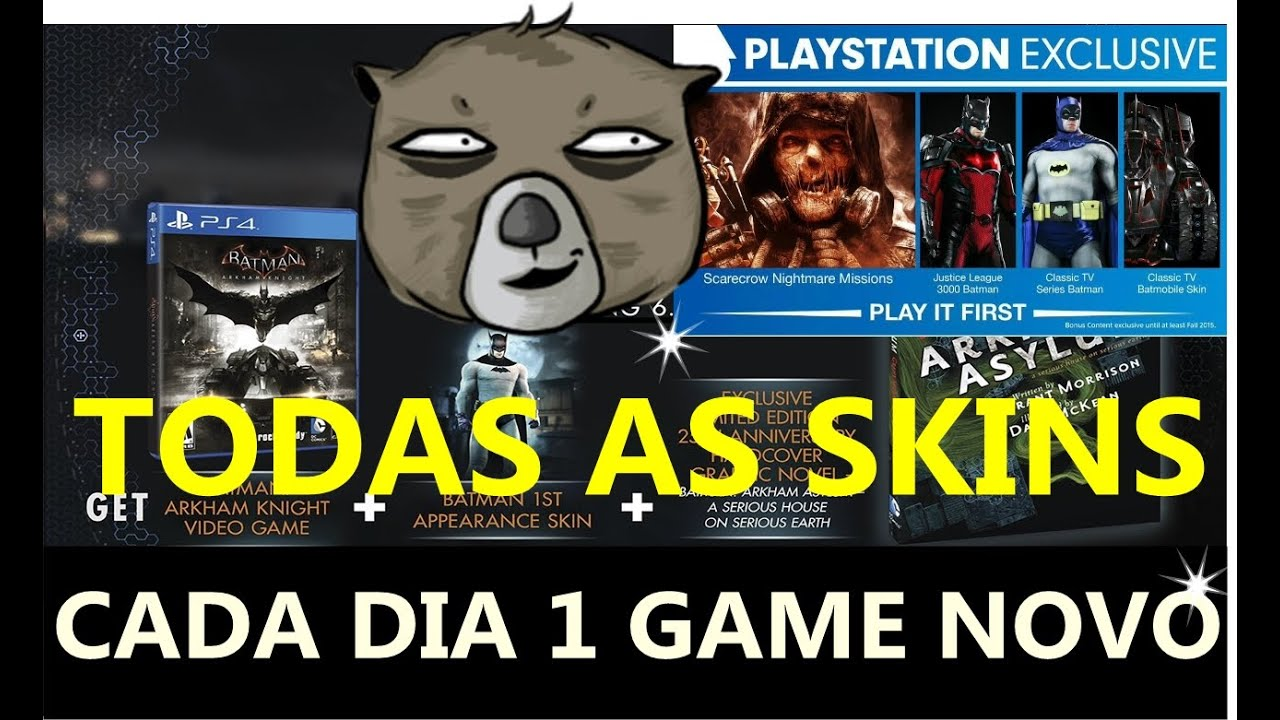 TODAS AS SKINS EXCLUSIVAS - BATMAN ARKHAM KNIGHT - PS4 a ...